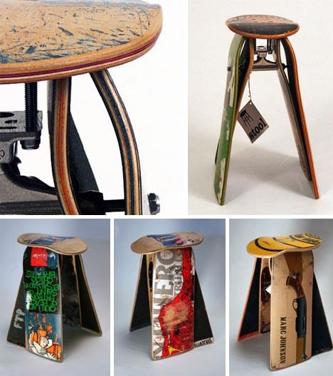 Recycled-skateboard-furniture-design