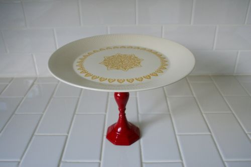 Cake Stand- Yellow & Red (12)